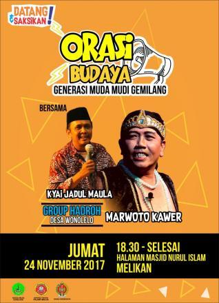 Orasi Budaya Bareng Marwoto Kawer dan Ky Jadul Maula