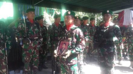 Sebuah Tembakan Salvo Iringi Pemakaman Anggota Veteran Desa Wonolelo