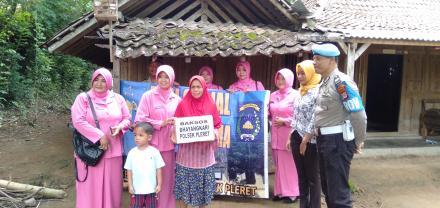 Bhayangkari Polsek Pleret Adakan Baksos di Dusun Bojong Wonolelo