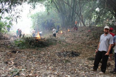 Kerja bakti di wilayah Kampung KB Desa Wonolelo