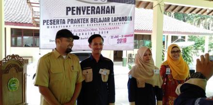 Penyerahan Peserta Praktek Belajar Lapangan Stikes Surya Global Yogyakarta