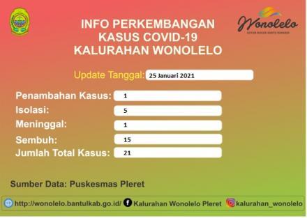 Info Perkembangan Kasus Covid-19 Kalurahan Wonolelo